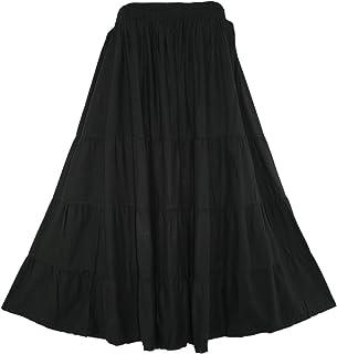 c278ff975c Beautybatik BOHO Gypsy Long Maxi Tiered Skirt Plus Sz XL to 3X
