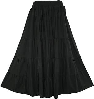 black boho maxi skirt