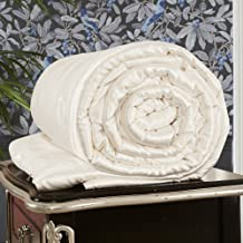 LilySilk Silk Comforter 19 Momme All Season 100 Percent Mulberry Silky Filled Bedding Soft Surroundings Ivory King Size
