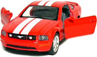 """5"""" 2006 Ford Mustang GT with Stripes 1:38 Scale (Red) by Kinsmart"""