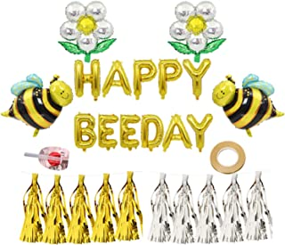 Happy Bee Day Balloons Bee Foil Balloons Bumblebee Party Decoration Baby Shower Birthday Party Decor Supplies