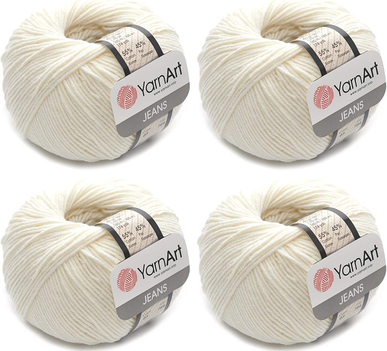 4 Sales results No. 1 Beauty products Skeins YarnArt Jeans 55% Cotton Yarn Blend Thread Acrylic 45%