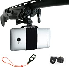 Action Mount - Sportsman's Mount for Any Smartphone: Attaches to Sports Fishing Rod, Bow, Shotgun, Rifle, Paintball, Etc. Operable with Any Phone, Or Canon Camera. Strong Hold.