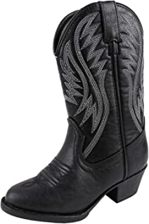 Smoky Mountain Girls' Mesquite Western Boot Round Toe Black 10 D