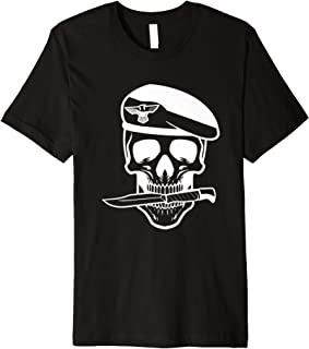Army Soldier Skull Knife Tattoo Veteran Premium T-Shirt