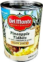 Del Monte PINEAPPLE TIDBITS in 100% Pineapple Juice 20oz (4 Pack)