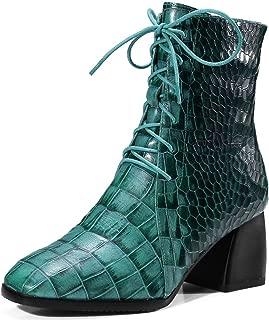 Nine Seven Women's Leather SquareToe Booties