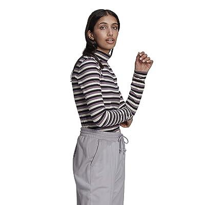 adidas Originals Comfy Chords Long Sleeve Tee (Black/Off-White) Women