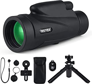 RILYBA 12X50 HD Monocular Telescope with Low Night Vision...