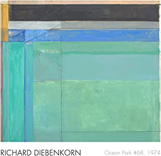 Ocean Park No. 68, 1974 by Richard Diebenkorn Art Poster Print, Overall Size: 28x27, Image Size:22x25