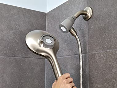 Moen 26112SRN Engage Magnetix Six-Function 5.5-Inch Handheld Showerhead with Magnetic Docking System, Spot Resist Brushed Nic