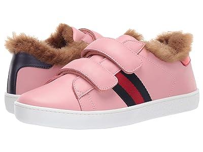Gucci Kids New Ace Faux Fur Sneaker (Little Kid/Big Kid) (Purple/Multi) Girl