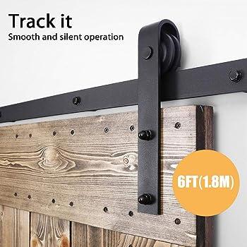 LWZH Paire de rouleaux pour porte coulissante de style industriel pour porte int/érieure ou poulie cintres en forme de J noirs sans rail coulissant