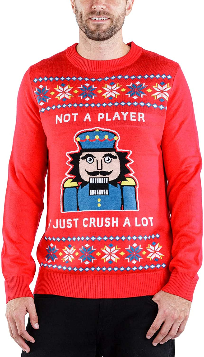 Men's I Just Crush A Lot Sweater Cracker Nut mart - Christmas Funny S Don't miss the campaign