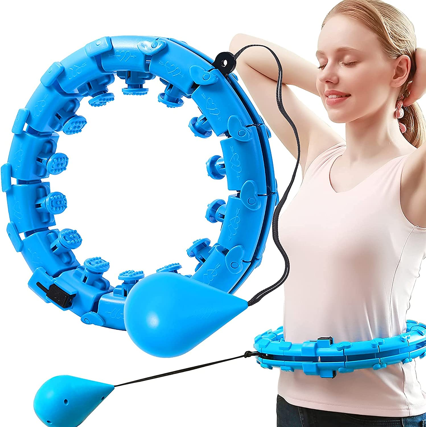 OHINGLT Weighted Hula Hoop for Adults Ho Bargain sale Our shop most popular Hoola Loss Smart Weight