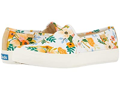 Keds Double Decker Lively Floral (White Printed Canvas) Women
