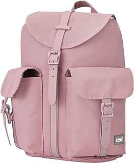 BLNBAG U5 - Rucksack für Damen Handtaschen-Rucksack mit Tabletfach, Segeltuch - Damenrucksack, Tagesrucksack für Frauen, 12 Liter - Altrosa, 34 cm, 1083021003