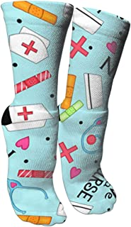 antspuent Compression Socks Unisex Printed Socks Crazy Patterned Fun Long Cotton Socks Over The Calf Tube