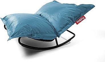 Fatboy Original Slim Nylon Bean Bag Chair - Ice Blue + Rock 'n Roll