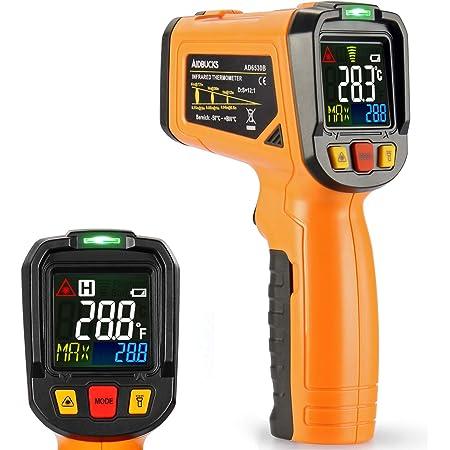 Infrarot Thermometer Aidbucks Ad6530b Ir Laser Digital Thermometer Kontaktfreies Mit Farbe Lcd 12 Punkte Laserkreis Farbbildschirm Alarmfunktion Bei Über Unterschreitung Der Temperatur 50 Bis 800 Küche Haushalt