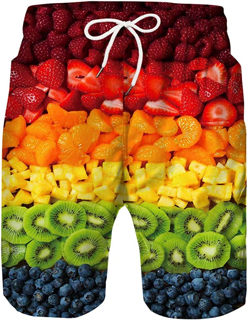 iLH Father and Son Matching Swim Trunks, Hawaii Funny Quick Dry Family Matching Board Shorts Swimsuit with Mesh Lining
