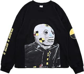 ASAP Rocky Testing in Progress Long Sleeve Tshirt Injured Generation Tour Hip Hop Letter Printed Graphic Hoodie Black