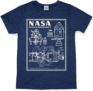 Hank Player U.S.A. NASA Apollo Spacecraft Blueprint Men's T-Shirt