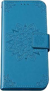 Kompatibel med Huawei P30 Pro fodral vikbar, PU läder plånbok 3D prägling blomma mönster väska vikbart fodral med kortfack...