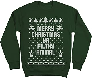 Merry Christmas Ya Filthy Animal Ugly Christmas Sweater Contest Party Xmas Mens Sweatshirt