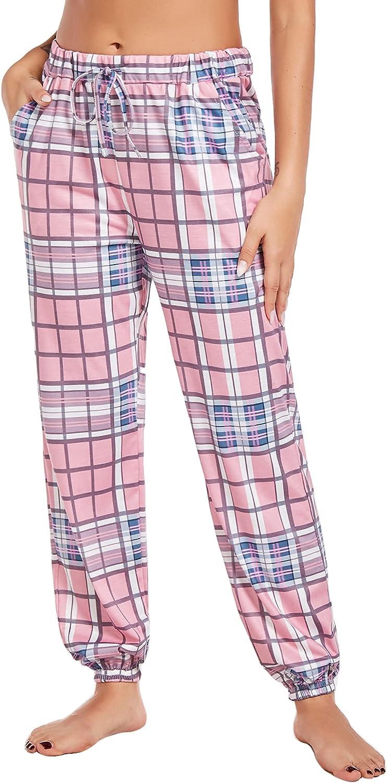 luxilooks Womens Pajama Pants Comfy Jogger Sleep Pant Drawstring Yoga Sweatpants Soft Pj Bottoms Lounge Pants with Pockets
