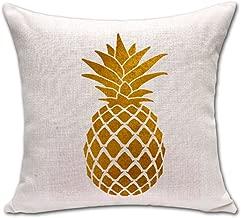 Aveks Lovely Shape Tropical Pineapple Fruit War Massager Decorative Pillows Emoji Enjoyment Fiber Flax Kids' Gift Partner POP Art, 45X45cm,