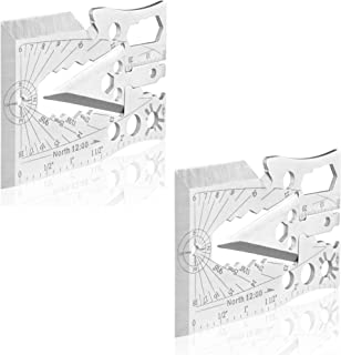 Wild Peak Survival Multitool Original 30+ Function Axe Card for Camping Gear, Hiking, Climbing, Fishing, Hunting, Wilderness Survival, Preppers Bug Out Bag, Emergency Kit (2-Pack)