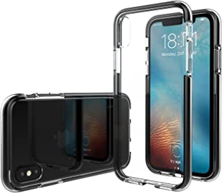 iPhone Xs/X Case, Luvvitt Prooftech Cover with Extremely Shockproof TPE Shock Absorption Bumper Case for iPhone Xs/X (2017-2018) - Clear/Black