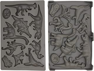 Dinosaur Silicone Mold - Mixed Patterns - Chocolate Ice Gummy Candy Mold