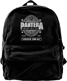 NJIASGFUI Mochila de lona Pantera Stronger Than All Logo para gimnasio, senderismo, portátil, bolso de hombro para hombres...