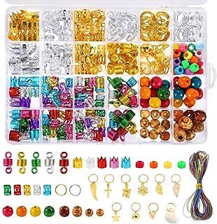Ububiko Dreadlocks kralen DIY haarvlechtaccessoires met vlechtringen, haarclips, haarclips, houten kralen en kleurrijk met...