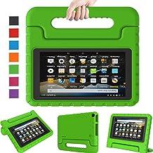 All Case New Fire 7 2019 Case - LTROP Kids Case for Fire 7 Tablet 9th Generation 2019 نسخه (نمایش 7 اینچی) ، قابل حمل قابل حمل نور اثبات سبک وزن 7 تبلت مخصوص کودکان - Green