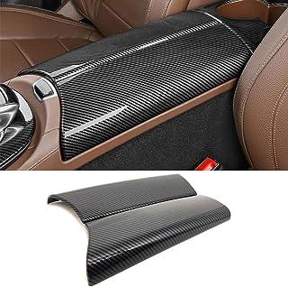 N\A for Mercedes-Benz C E GLC Class W205 W213 X253 ABS ألياف الكربون لون مركز السيارة الداخلي مسند الذراع مربع غطاء حماية...