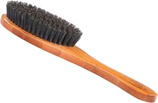Bass Brushes   Luxury Grade Pet Brush   Shine & Condition   100% Pure Premium Natural Bristle - Firm   Full Oval Design   Natural Bamboo Handle   Solid Finish   Bass Brushes Model #A15-DB