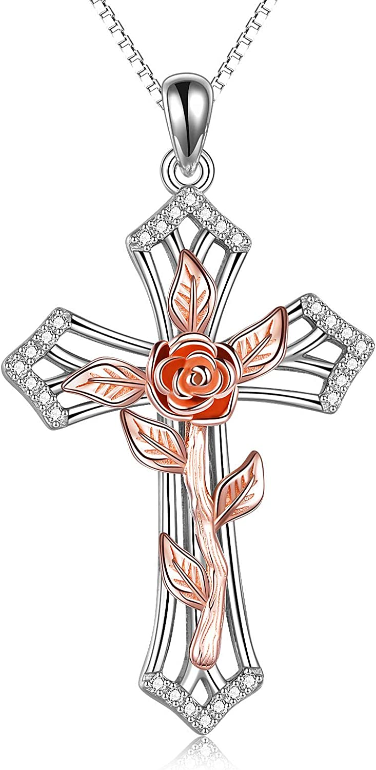Cross Max 48% OFF Necklace Sterling Pendant Silver cheap Religious