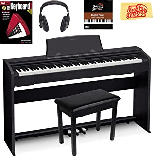 Casio Privia PX-770 Digital Piano - Black Bundle with Furnit