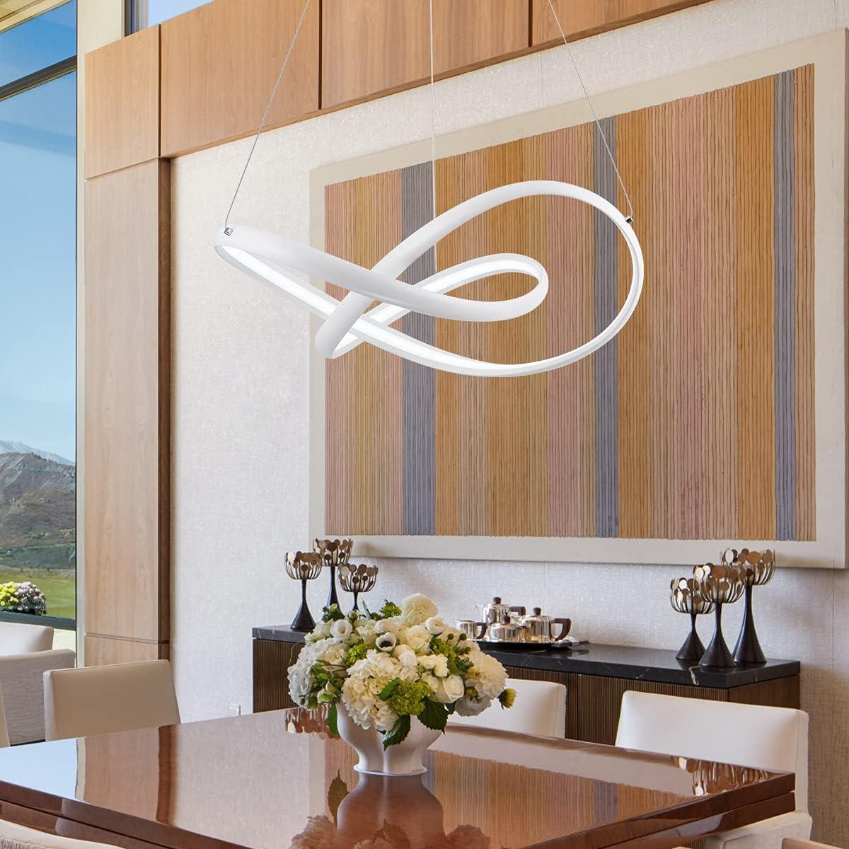 CHYING Modern Pendant Light Dimmable Super Popular brand Special SALE held Irregular 3-Leaves LED Rin