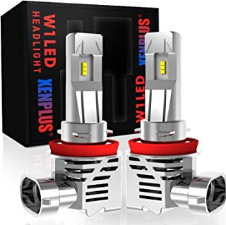 XENPLUS H11 H9 H8 Led Headlight Bulb Wireless Conversion Kit, Upgraded Version M3 13000LM Extremely Bright 50W ZES Chips Headlight Bulbs Replacement 6500K Xenon White, 2 Year Warranty (Pack of 2)