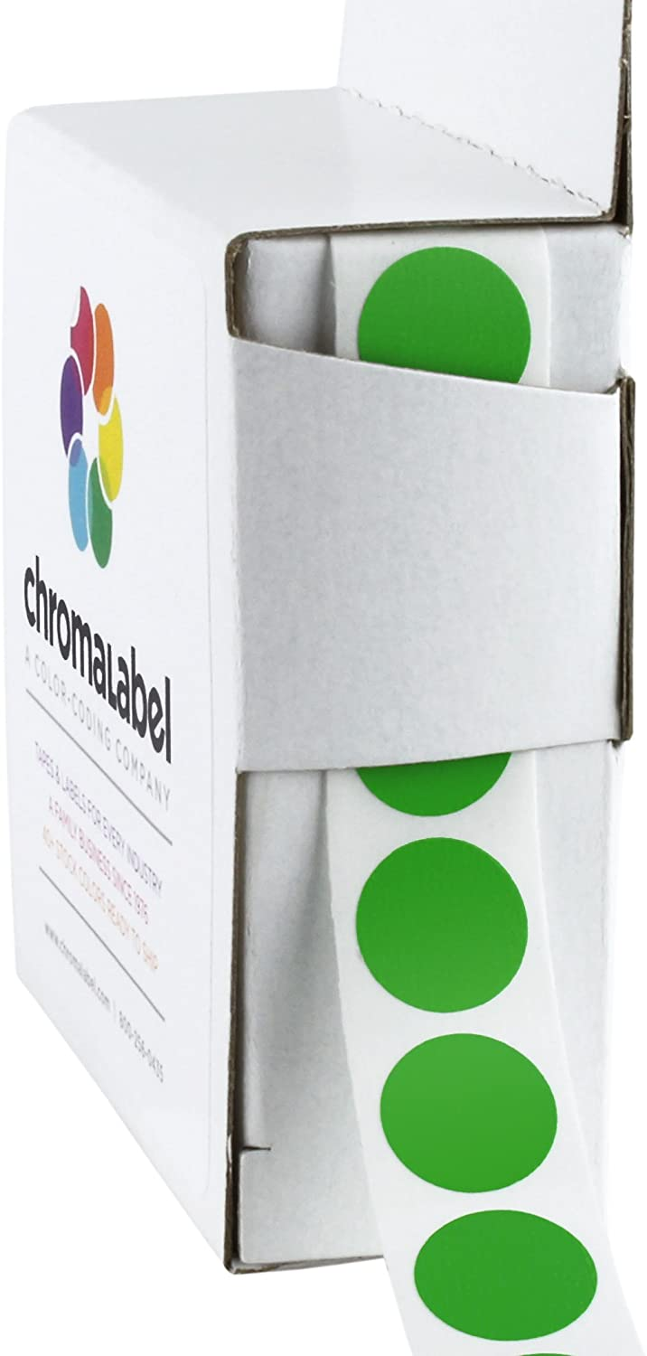 ChromaLabel 1 2 Inch Round 10 Selling and selling Dot Permanent Stickers Color-Code 5 popular
