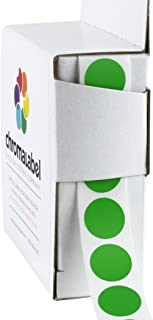 ChromaLabel 1/2 Inch Round Color Coding Labels, 1000 Box, Green
