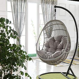 Sedia sospesa per esterni amaca sedia sospesa sedia a dondolo sedia con 2 cuscini portatili per il cortile di casa giardino arrampicata su amaca sedia sospesa sedia a dondolo per interni esterni