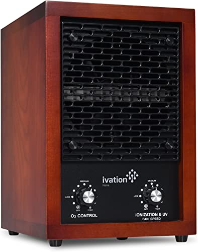 discount Ivation outlet online sale 5-in-1 HEPA Air Purifier outlet sale & Ozone Generator, Ionizer & Deodorizer for Up to 3,700 Sq/Ft – Included HEPA, Carbon and Photocatalytic Filters, with UV Light and Negative Ion Generator online