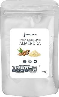 Harina de Almendra 1 kg blanqueada seleccionada calidad premium sin azúcar sin gluten para hornear comestible
