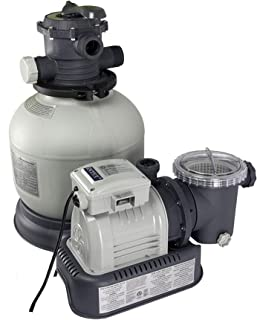 Intex 14-Inch Krystal Clear Sand Filter Pump, 110-120 Volt with GFCI  (Older Model)