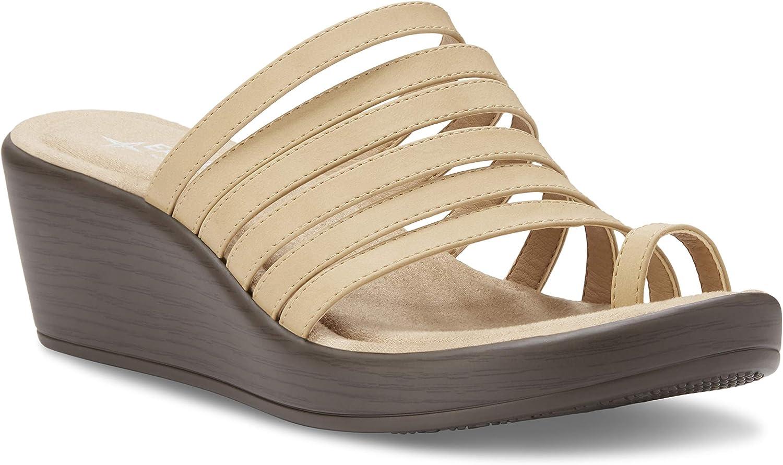Eastland Women's Thong Slide Wedge Sandal